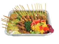 Assorted Malay Style Meat Skewers with Satay Sauce (Chicken, Pork, Beef) from Danny Catering
