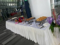 Indoor Buffet Setup from Brinda's