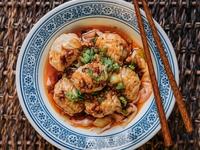 Pork Dumplings in Spicy Oil from The Night Market