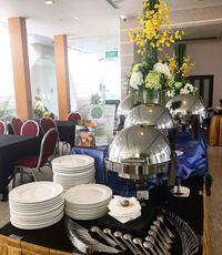 buffet catering set up - orange lantern catering from Orange Lantern Catering