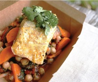 Sea Bass with Hearty Chickpea Stew from Px Plate