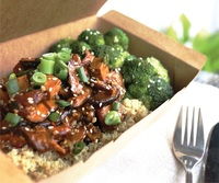 Asian Shiitake Mushrooms with Quinoa and Broccoli from Px Plate
