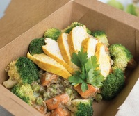 Sweet Potato Curry with Baked Chicken and Broccoli from Px Plate