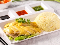 Signboard Boneless Hainan Chicken Rice from Bosom Hainan Chicken