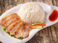 Crispy Golden Pork Neck Rice from Bosom Hainan Chicken