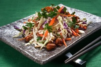 Classy coleslaw dressed in a creamy cashew sauce with spiced nuts from Food Folk