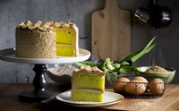 Pandan Coconut Cake from Cedele.