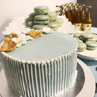 Dessert Table Blue Theme - Cake from Flaircakes