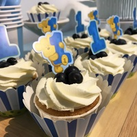 Dessert Table Blue Theme - Cupcakes from Flaircakes