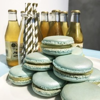 Dessert Table Blue Theme - Macarons from Flaircakes