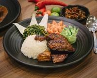 Grilled Chicken (Ayam Bakar) with Rice from Bebek Goreng Pak Ndut