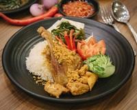 Original Crispy Fried Duck (Bebek Goreng) with Rice from Bebek Goreng Pak Ndut