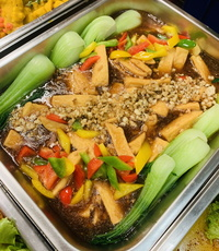 Fortune Egg Tofu with Minced Chicken from Rilassi Catering