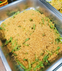 Long Bean with Crunchy Breadcrumb from Rilassi Catering
