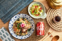 Vegetable Don with Citron Salad and Coke  from Tokyo Don