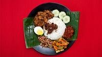 Nasi Lemak Beef Rendang from Uptown Nasi Lemak