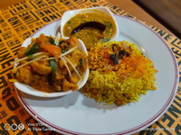 Aloo Gobi Set (Saffron Rice) from Indline Indian Cookery