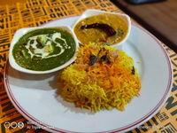 Palak Paneer Set (Saffron Rice) from Indline Indian Cookery