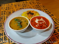 Paneer Butter Masala Set (Saffron Rice)  from Indline Indian Cookery