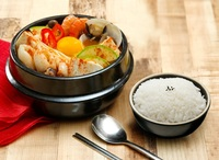 House Special Spicy Soontofu Soup with Rice from Lee Fa Yuen Express