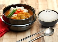 Spicy Kimchi Soup with Rice from Lee Fa Yuen Express