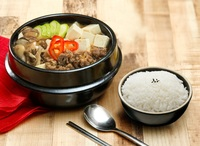 Beef in Soy Bean Paste Soup with Rice from Lee Fa Yuen Express