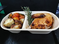 Cooked Chicken from Rotisserie By Crunch