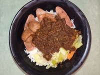 Sausage and Marinated Minced Pork with Rice from Dou Dou Taiwanese Restaurant