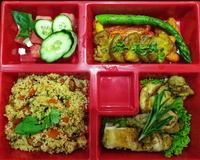 Baked Lemon Chicken Thigh Bento from The Plattering Co.