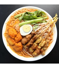 Satay Chicken and Pork Laksa from Malayan Restaurant