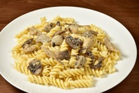 Creamy Chicken Mushroom Pasta from Little Mario's Pizzeria