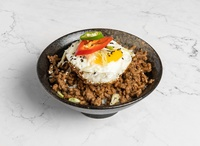 Spicy Minced Pork Rice Bowl from Blend & Grind