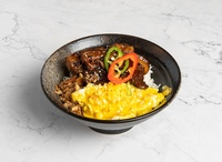 Pork Belly Rice Bowl from Blend & Grind