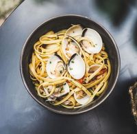 Spicy Clam Pasta from The Food Peeps