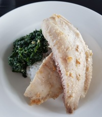 Garlic-Baked Tilapia from Squeaky Clean Cafe