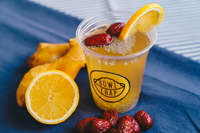 Ginger Lemon Water with Jujube and Chia Seed from Bowl Chap