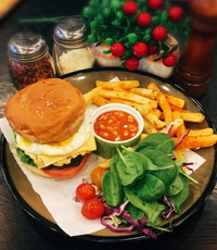 Angus Beef Burger Platter from Dine-Out Western Catering