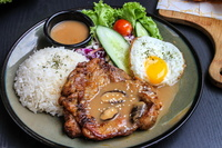 Chicken Chop Rice from Dine-Out Western Catering