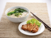 Pork Cutlet La Mian from Chopsticks by The Asian Kitchen