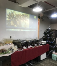 Jenny, Christmas Buffet C setup - delizio catering from Delizio Catering