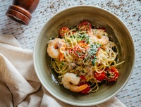 Aglio Olio with Fresh Prawns from Fifty 50