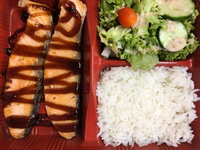 Salmon Teriyaki Bento from Mr. Piglet