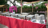 Outdoor Buffet Catering  Setup for Birthday Party - katong catering from Katong Catering