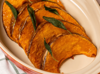 Pumpkin and sage marries the flavours of northern Italy with the south to create a delicious vegetarian dish. from Avogrinch