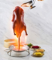 Tycoon Tann Flaming Peking Duck from Tycoon Tann
