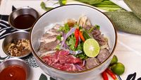 Raw Beef, Well Done Beef & Beef Meat Ball Pho from Pho Mot