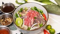 Raw Beef & Well Done Beef Pho from Pho Mot