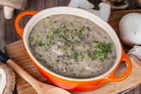 Velvety Mushroom Stroganoff Soup from The Soup Spoon Union