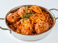 Meatball Spaghetti from Flour & Water