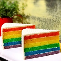 Rainbow Cake from Caffe Pastore